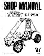 1980-1981 Honda Odyssey FL250 Shop Manual