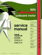 1974 Johnson 135 HP Outboard Motors Service manual