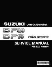 2003+ Suzuki DF9.9/DF15 four stroke outboard motors service manual