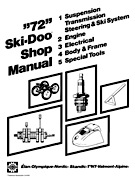 1972 Ski-Doo Shop Manual
